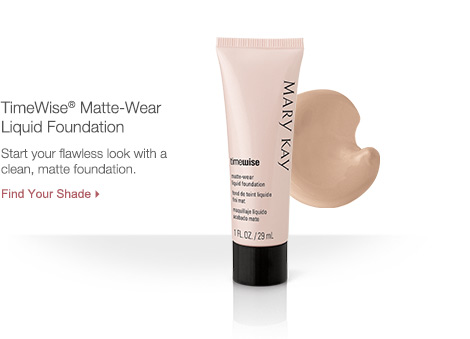 TimeWise Matte-Wear Liquid Foundation. Start your flawless look with a clean, matte foundation.