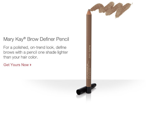 Mary Kay Brow Definer Pencil. For a polished, on-trend look, define brows with a pencil one shade lighter than your hair color. Get yours now.